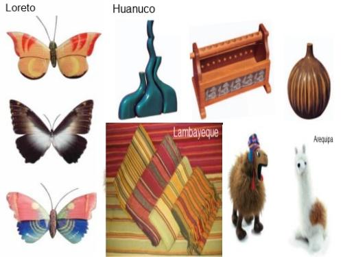 Artesanias de Loreto, Huanuco, Lambayeque y Arequipa
