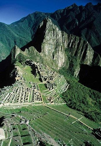 Foto Aérea de Machu Picchu