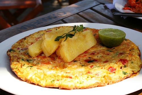 Tortilla de Camarones al estilo de Lunahuana